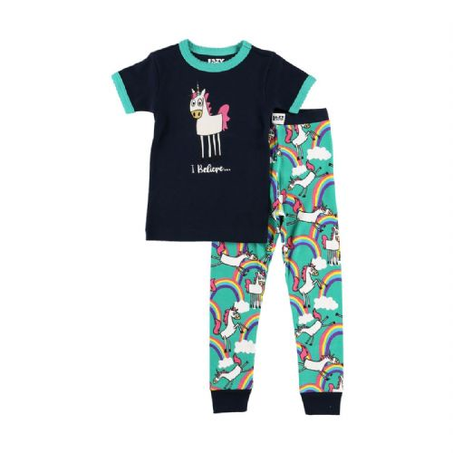 LazyOne Girl's 'I Believe In Unicorns' PJ Set
